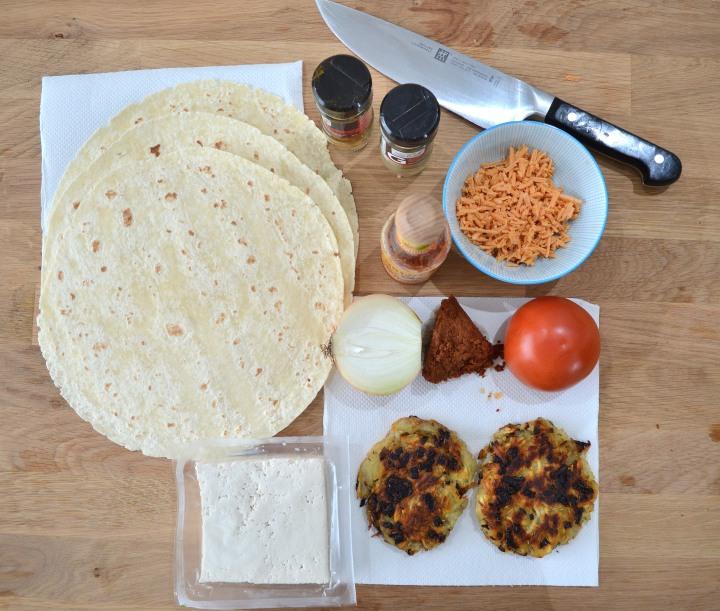 Burrito Ingrediants Top