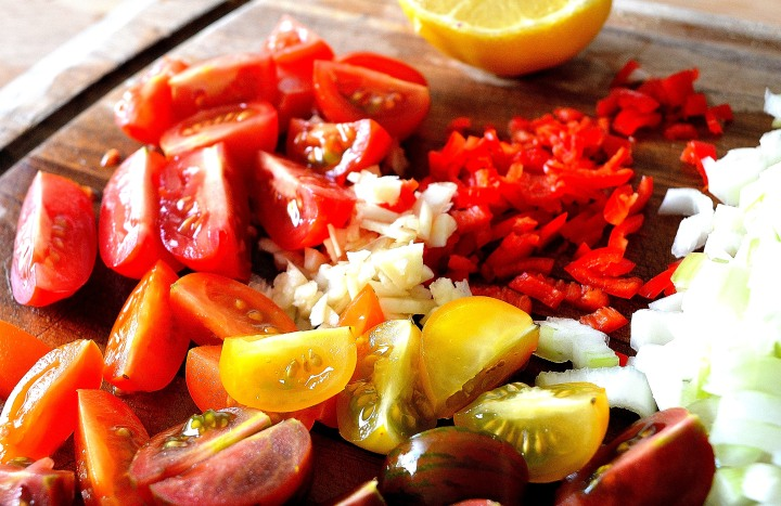 Bean veg chopped