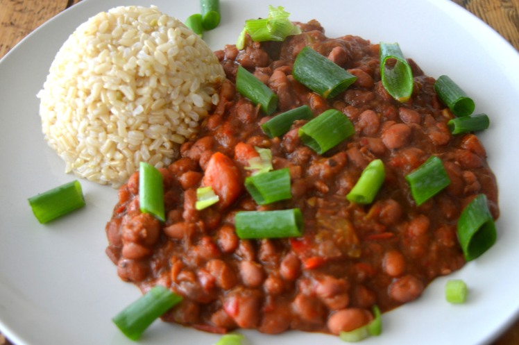 Red beans side