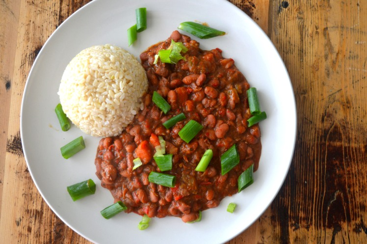 Red beans top