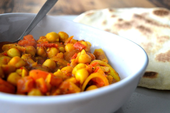 Chickpea curry side
