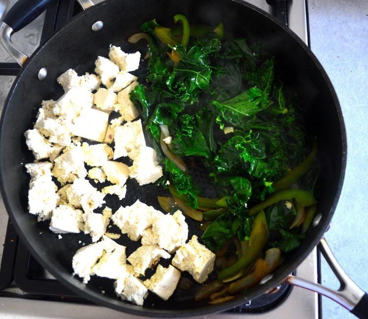 Tofu scram in pan