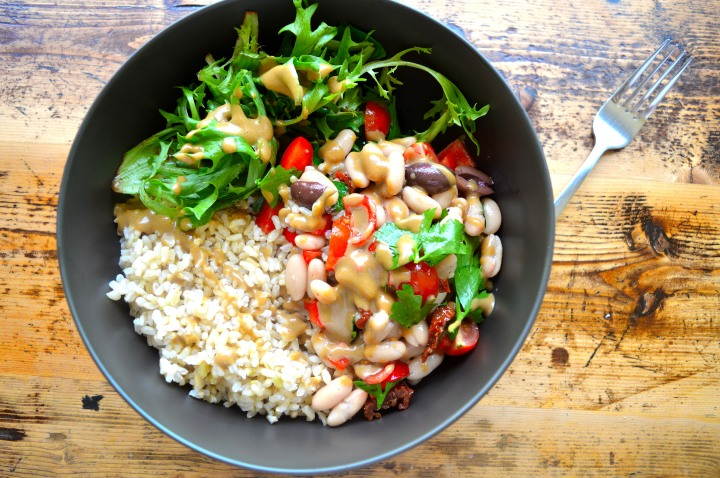 Med Rice salad top