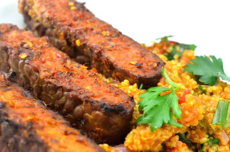 Spicy Tempeh Quinoa Close