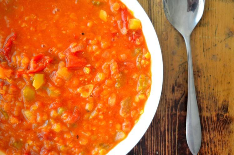 Lentil Soup close